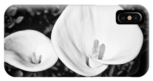 Calla Lilies Bw 2  IPhone Case