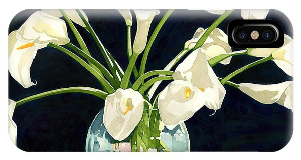 Calla Lilies In Vase IPhone Case