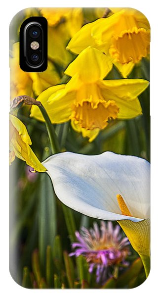 Calla Lily And Doffodils IPhone Case