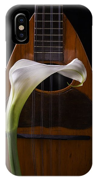 Lily iPhone X Case - Calla Lily And Mandolin by Garry Gay
