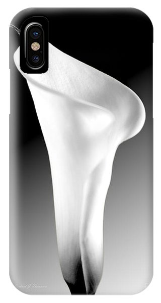 Calla Lily Bw IPhone Case