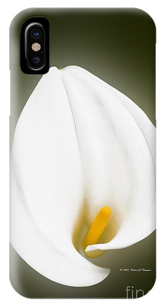 Calla Lily Flower Glow IPhone Case