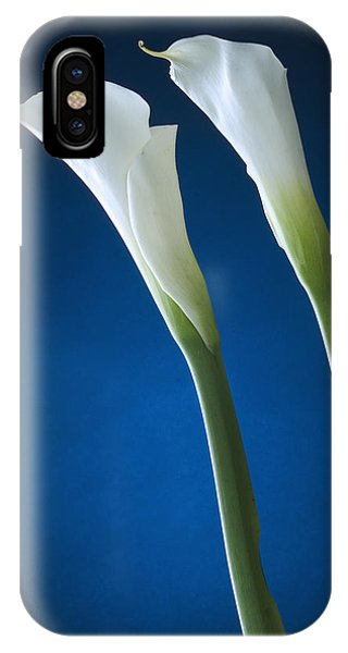 Calla Lily On Blue IPhone Case