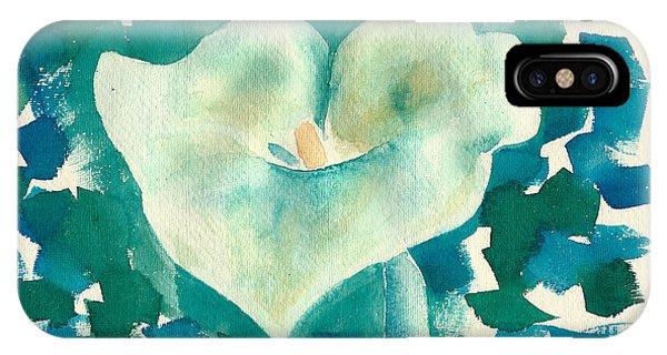 Calla Lily Watercolor IPhone Case