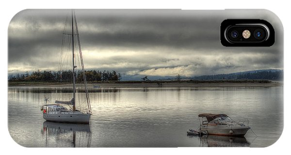 Powerboat iPhone Case - Calm Before The Storm by Randy Hall