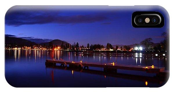 Calm Night - Skaha Lake 02-21-2014 IPhone Case