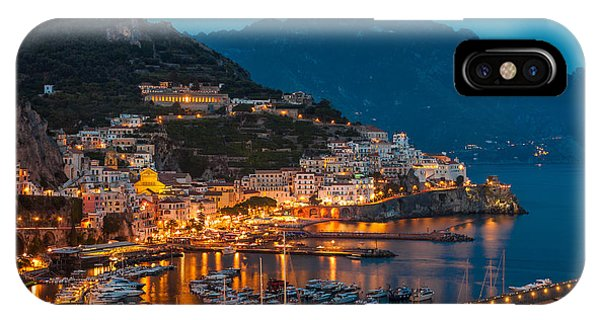 Calm Night Over Amalfi Coast IPhone Case