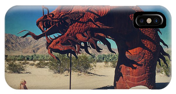 Serpent iPhone Case - Calmly Facing Down My Demon by Laurie Search