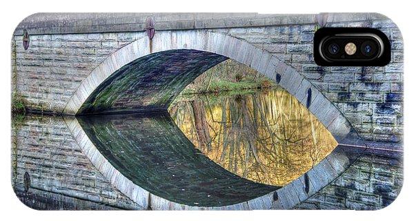 Calver Bridge Reflection IPhone Case