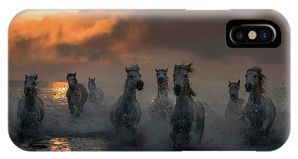 French iPhone Case - Camargue On Fire by Xavier Ortega