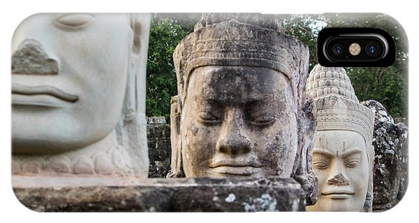 Angkor Thom iPhone Case - Cambodia, Angkor Watt, Siem Reap by Terry Eggers
