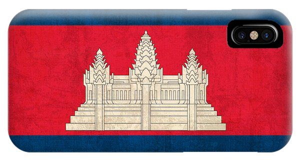 Cambodia iPhone Case - Cambodia Flag Vintage Distressed Finish by Design Turnpike