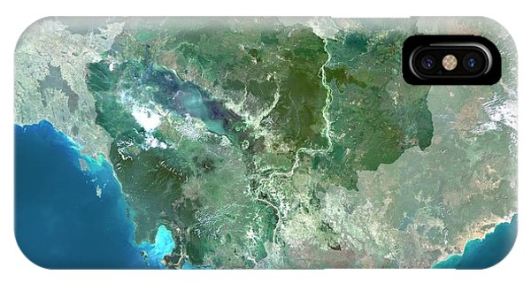Cambodia iPhone Case - Cambodia by Planetobserver/science Photo Library