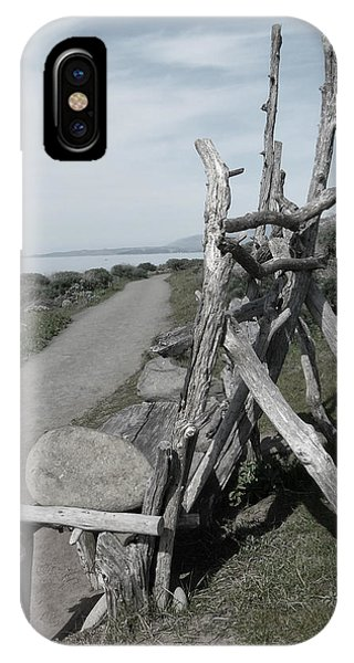 Cambria Driftwood Bench 2 IPhone Case