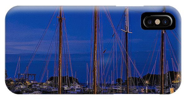 Camden Harbor Maine At 4am IPhone Case