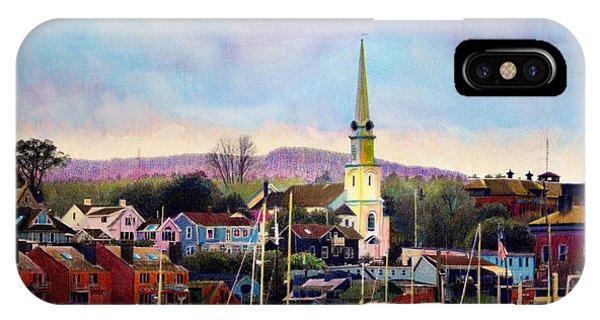 Camden Maine Harbor IPhone Case