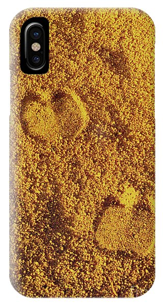 Camel Prints In The Sand IPhone Case