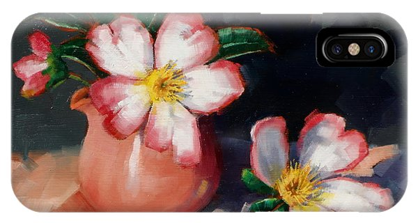 Camellias And Chinese Tea Jug II IPhone Case