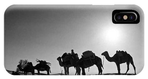 Caravan iPhone Case - Camels by Delphimages Photo Creations