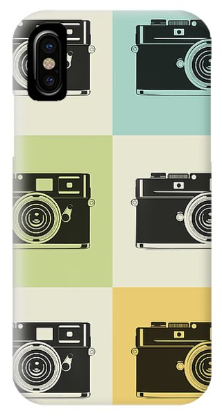 Witty iPhone Case - Camera Grid Poster by Naxart Studio