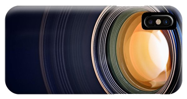 Camera iPhone Case - Camera Lens Background by Johan Swanepoel