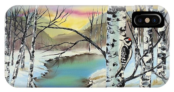 Camouflage Woodpecker IPhone Case