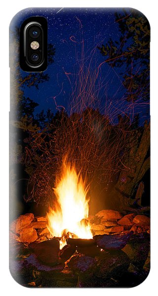Campfire Under The Stars IPhone Case