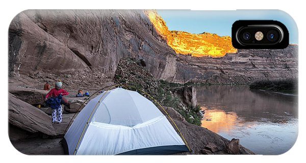 Knit Hat iPhone Case - Camping Along The Labyrinth Canyon by Kennan Harvey