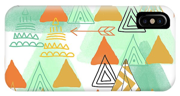 Triangles iPhone Case - Camping by Linda Woods