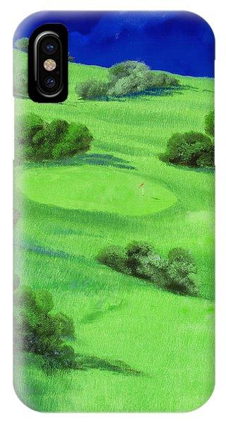 Golf iPhone Case - Campo Da Golf Di Notte by Guido Borelli