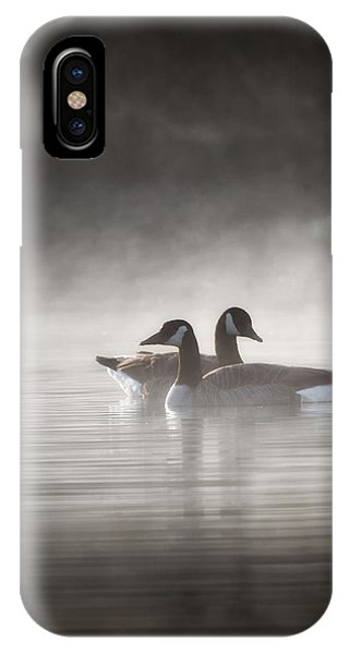 Canada Geese In The Fog IPhone Case