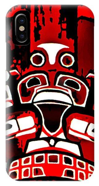 Canada - Inuit Village Totem IPhone Case