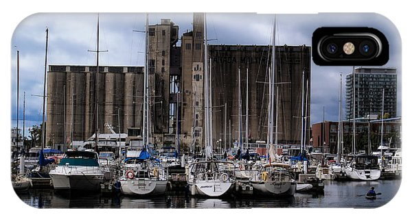Canada Malting Silos Harbourfront IPhone Case
