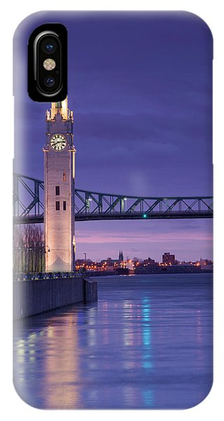 Quebec City iPhone Case - Canada, Montreal, Old Port Clock Tower by Walter Bibikow