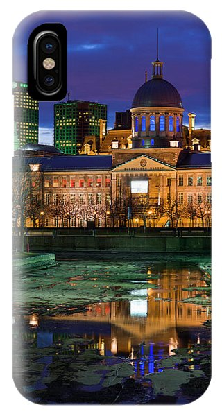 Quebec City iPhone Case - Canada, Montreal, Old Port, Marche by Walter Bibikow