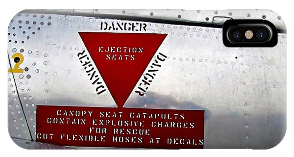 Canadair Ct-114 Tutor Danger  Ejection Seats IPhone Case