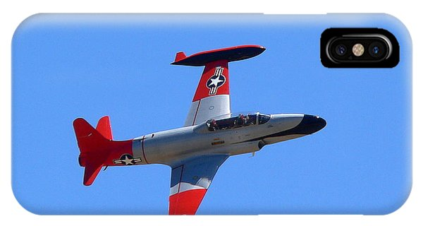 IPhone Case featuring the photograph Canadair Shooting Star Ct133 by Jeff Lowe