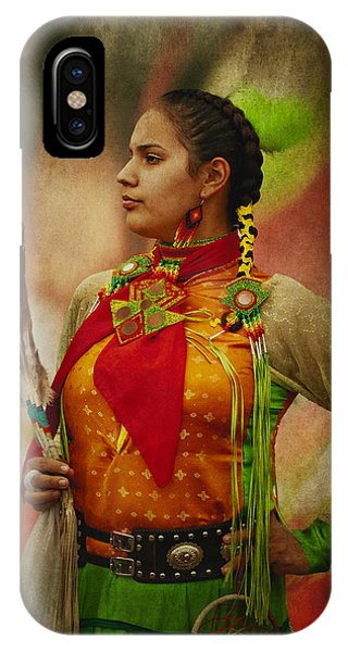 Canadian Aboriginal Woman IPhone Case