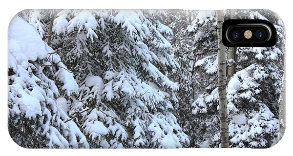 Canadian Forest - Winter Snowfall IPhone Case