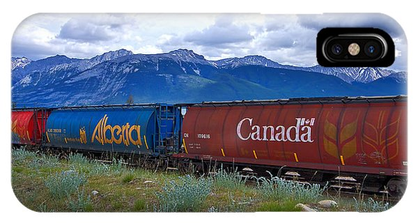 Canadian Freight Train In Jasper #2 IPhone Case