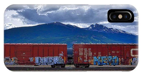 Canadian Freight Train In Jasper IPhone Case