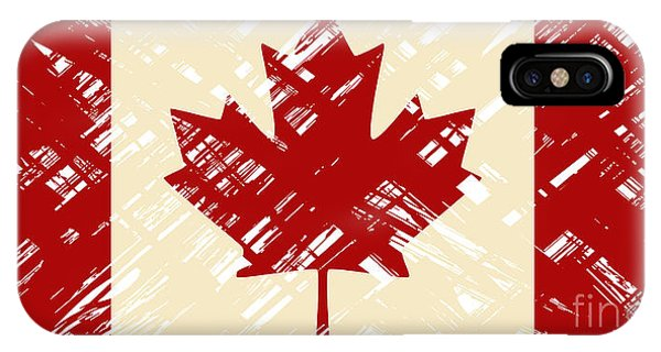 Canadian Grunge Flag. Vector Phone Case by Khvost