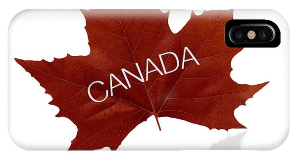 Canada Goose iPhone Case - Canadian Maple Leaf by Aged Pixel