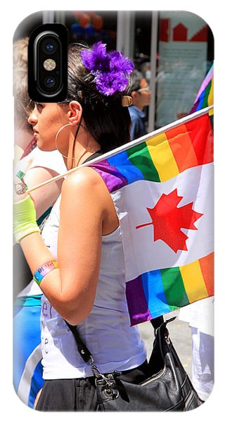 Gay Pride Flag iPhone Case - Canadian Rainbow by Valentino Visentini