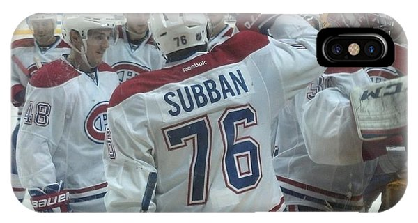 iPhone Case - Canadiens Win by Scott Decker