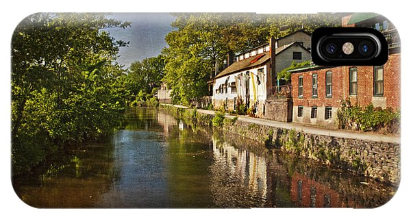 Canal Along The Porkyard IPhone Case