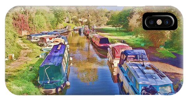 IPhone Case featuring the photograph Canal Barges by Paul Gulliver
