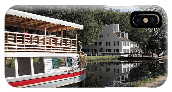 iPhone Case - Canal Boat On The C And O Canal At Great Falls Tavern by William Kuta