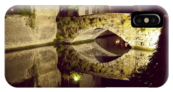 Canal Bridge Reflection IPhone Case