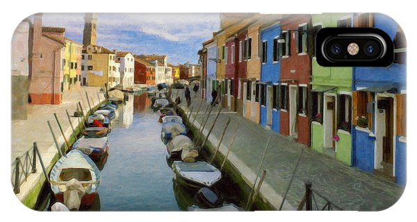Canal Burano  Venice Italy  IPhone Case